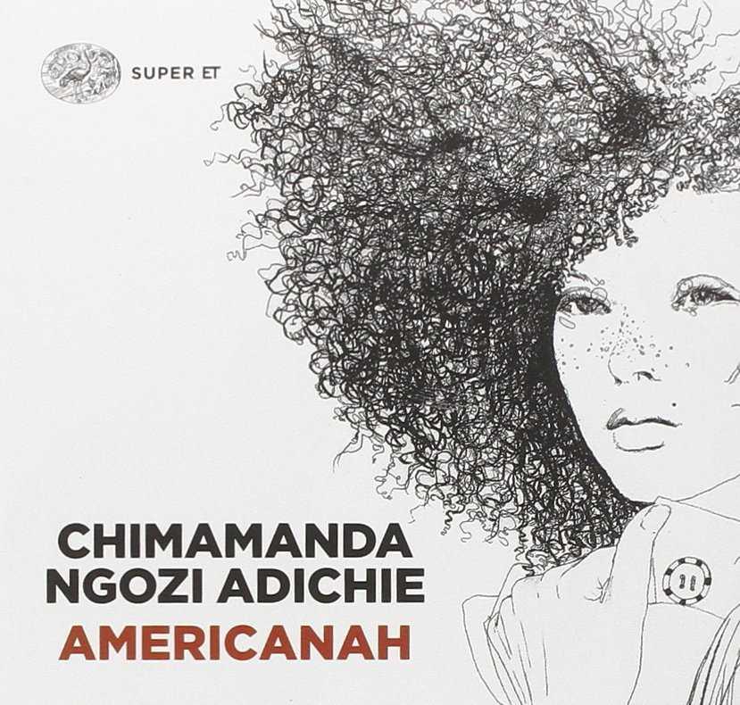 La copertina del libro di chimamanda Ngozi Aldiche, Americanah